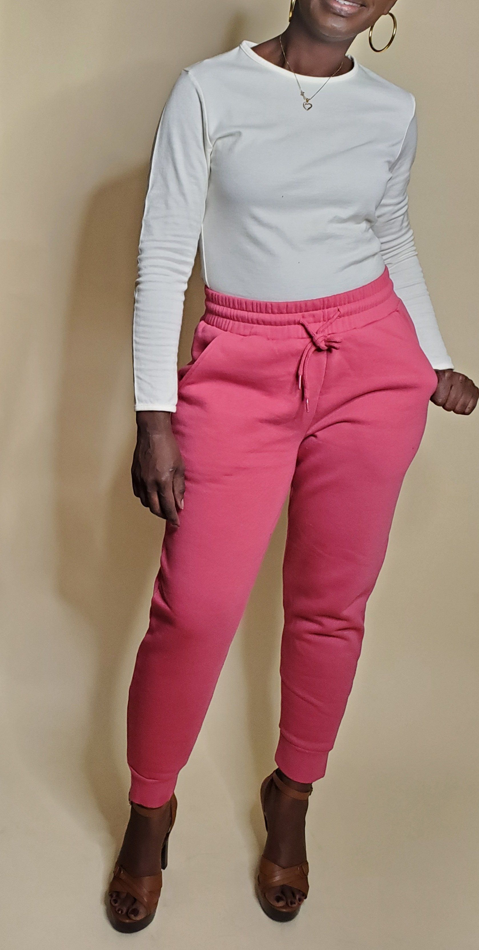 Essential Sweatpants (Rose)