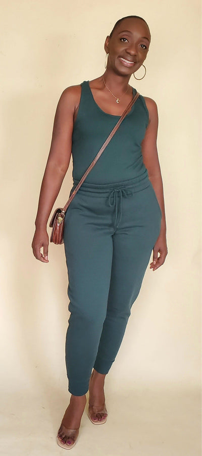 Gina|Jogger Set (Hunter Green)