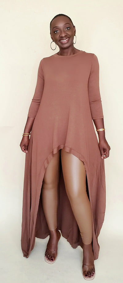 Angie| High Low Set (Brown)