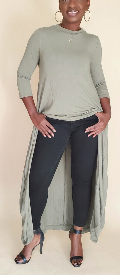 Angie | High Low TUNIC (Olive)