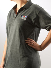 Unisex Polo Shirt - Dark Grey & Light Grey