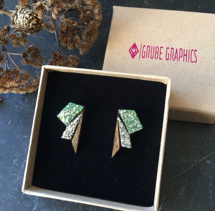 Image of   Small Wings Springgreen & Silver