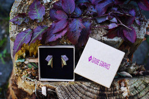 Small Wings Purple & Gold