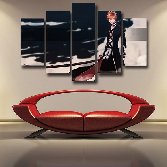 Bleach Ichigo Wearing Garment Of Dead Souls 5pcs Canvas Print