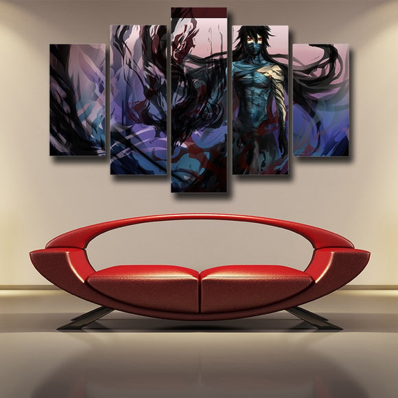 Bleach Ichigo Zangetsu Full Form Stunning 5pcs Canvas Print
