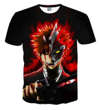 Bleach Anime Ichigo Kurosaki Hollow Mask Cool Theme T-shirt - Konoha Stuff