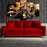 Attack On Titan Training Corps Fiery Flame 5pcs Canvas Print