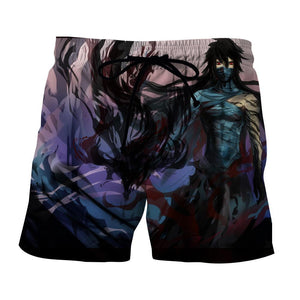 Bleach Ichigo Zangetsu Full Form Cool Powerful Wearing Mask Shorts