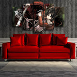 Attack On Titan Badass Eren With Weapons 5pcs Canvas Print