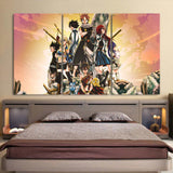 Fairy Tail All Characters Fierce Looking 3pcs Canvas Print