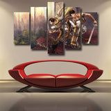 Attack On Titan Eren And Levi Survey Corps 5pcs Canvas Print