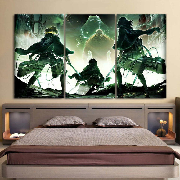 Attack On Titan Survey Corps Facing Armor 3pcs Canvas Print