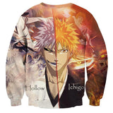Bleach Ichigo Suigetsu Hollow Faces Anime Theme Cool Symbol Sweatshirt