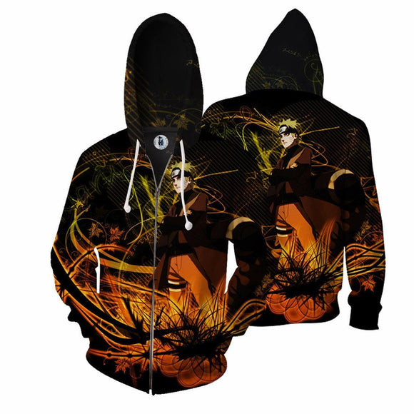 Cool Naruto Crossing His Arms Dope Fashion Zip Up Hoodie