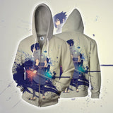Sasuke Uchiha Art Work Design Japan Anime Dope Zip Up Hoodie