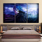 Fairy Tail Jellal Fernandes In Black Coat 3pcs Canvas Print