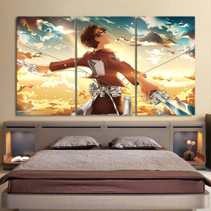 Attack On Titan Calm Levi Wide Spread Arms 3pcs Canvas Print