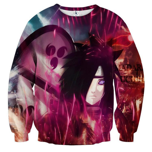 Naruto Japan Anime Madara Uchiha Awesome Ninja Sweatshirt