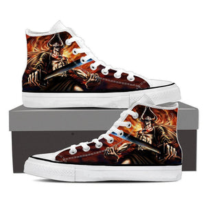 Bleach Ichigo Full Hollow Horn Devil Sword Flame Converse Shoes