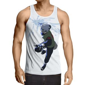 Naruto Japan Anime Kakashi Hatake Shinobi Awesome Tank Top