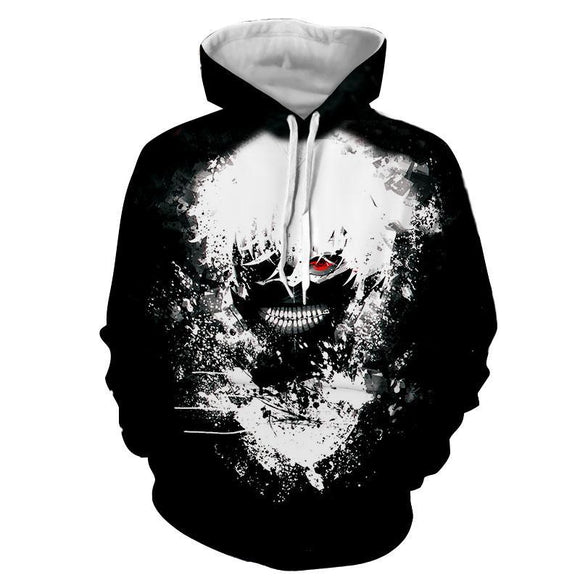 Tokyo Ghoul Anime Fashionable Design Vibrant 3D Print Hoodie