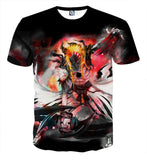 Bleach Hollow Ichigo Mask Fantasy Fan Art Full Print T-Shirt - Konoha Stuff