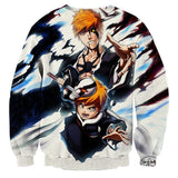 Bleach Ichigo Kazui Soul King Father Son Winter Sweatshirt