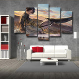 Attack on Titan Levi Floating In The Sky 5pcs Canvas Print