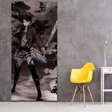 Attack On Titan Levi In Dark Battlefield 3pcs Canvas Print