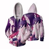 Naruto Shippuden Sasuke Uchiha Romantic Anime Zip Up Hoodie