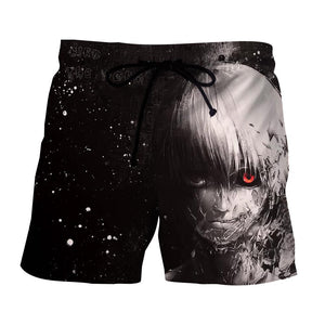 Tokyo Ghoul Ken Kaneki Black And White Scary Stylish Shorts