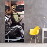 Attack On Titan Eren And Scary Eyes Behind 3pcs Canvas Print