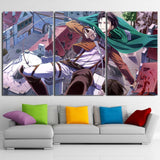 Attack On Titan Captain Levi Aerial Attack 3pcs Canvas Print