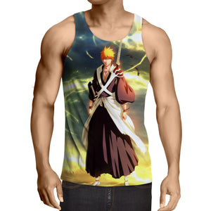 Bleach Ichigo Shinigami Uniform Cool Thunder Design Tank Top