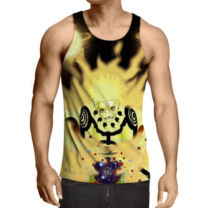 Naruto Japan Anime Six Paths Sage Mode Powerful Cool Tank Top