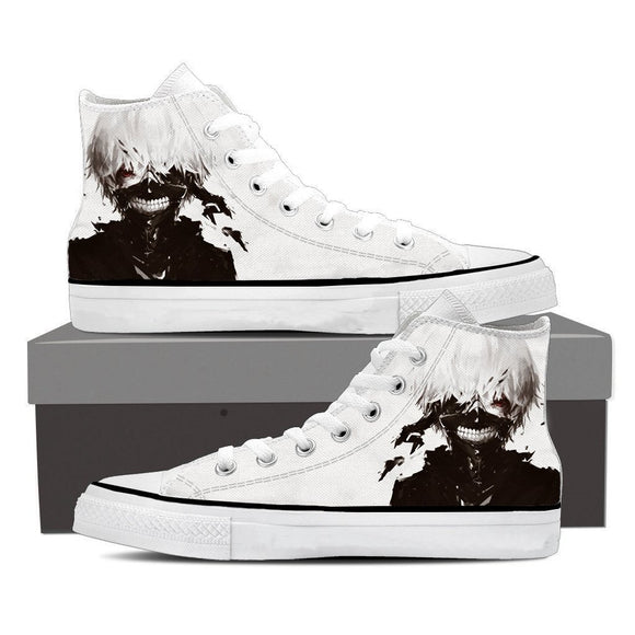 Tokyo Ghoul Anime Mythic Ken Kaneki Black And White Converse Shoes