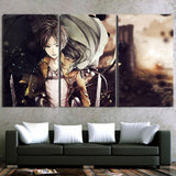 Attack On Titan Eren Yeager Scout Regiment 3pcs Canvas Print