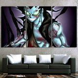 Fairy Tail Creepy Gajeel Redfox Green Eyes 3pcs Canvas Print