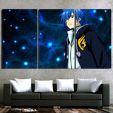 Fairy Tail Jellal Handsome Smile Cool Blue 3pcs Canvas Print