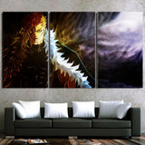 Fairy Tail Laxus Dreyar Fierce Look Dope 3pcs Canvas Print