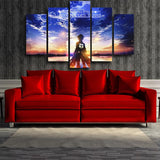 Attack On Titan Eren Looking At Sunset 5pcs Canvas Print