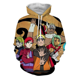 Naruto Jinchuuriki Powerful Ninja Cartoon Full Print Hoodie