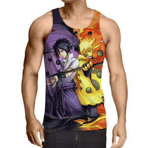 Naruto Sasuke Power Jinchuuriki Sharingan Pattern Tank Top