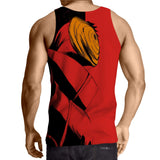 Naruto Akatsuki Obito Mask Dope Design Summer Tank Top