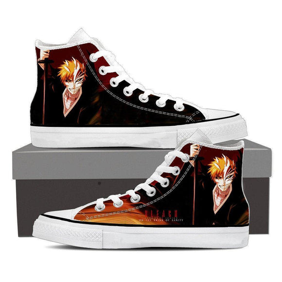 Bleach Ichigo Hollow Mask Fan Art Sketch Design Converse Shoes
