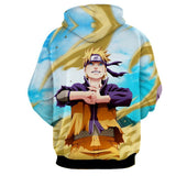 Naruto Shippuden Fan Art Style Full Print Winter Hoodie