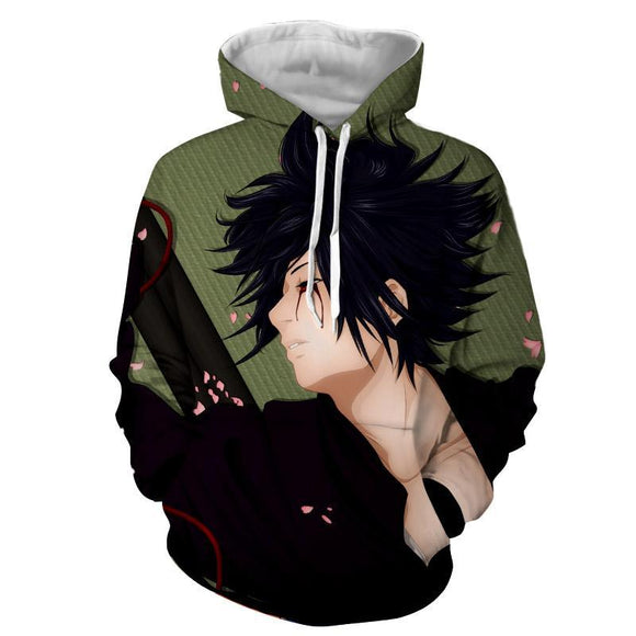 Sasuke Uchiha Romantic Art Work Design Streetwear Hoodie