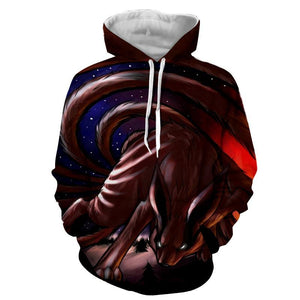 Naruto Shippuden Kurama Nine Tail Fox Fan Art Hoodie