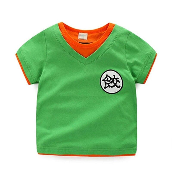 Dragon Ball Z Chiaotzu's Kanji Cosplay Green Kids T-Shirt