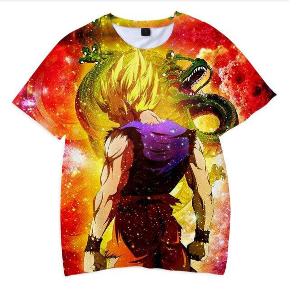 Dragon Ball Z Son Goku Super Saiyan 2 & Shenron Kids T-Shirt